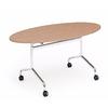 table_ovale_pliable_bois_roulettes