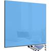 tableau magnétique carré en verre bleu ciel