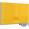 tableau magnétique en verre rectangulaire jaune