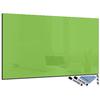 tableau rectangulaire en verre magnétique vert citron