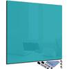 tableau carré en verre magnétique turquoise