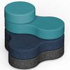 pouf design 4 niveaux pour bureau