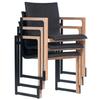 Chaise de bureau empilable noir et bois