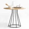 chaise-design-cafétéria-en-bois-et-métal