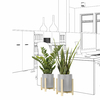 set-2-plantes-artificielles-design-pot-ciment