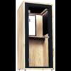 phonebox bois naturel pin