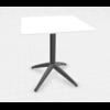 table cafétéria pliante pied noir plateau blanc