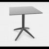 table cafétéria pliante pied noir plateau gris