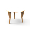 4. TABLE MODULABLE RONDE BUREAU BLANC