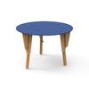 4. TABLE MODULABLE RONDE BUREAU BLEU