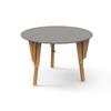 4. TABLE MODULABLE RONDE BUREAU GRIS