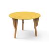 4. TABLE MODULABLE RONDE BUREAU JAUNE
