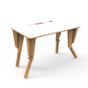 1. TABLE MODULABLE BUREAU INCLINE BLANC