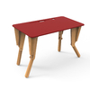 1. TABLE MODULABLE BUREAU INCLINE ROUGE