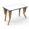 2. TABLE MODULABLE OPTION VELLEDA BUREAU INCLINE BLEU