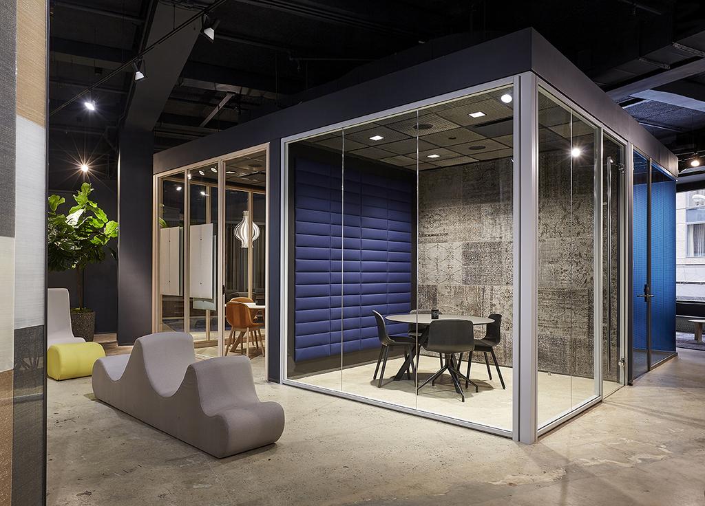 panneau acoustique carr installable par velcro pour openspace. Black Bedroom Furniture Sets. Home Design Ideas