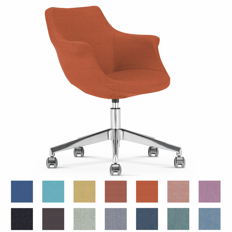 chaise-bureau-reunion-lounge-papaye-roulettes