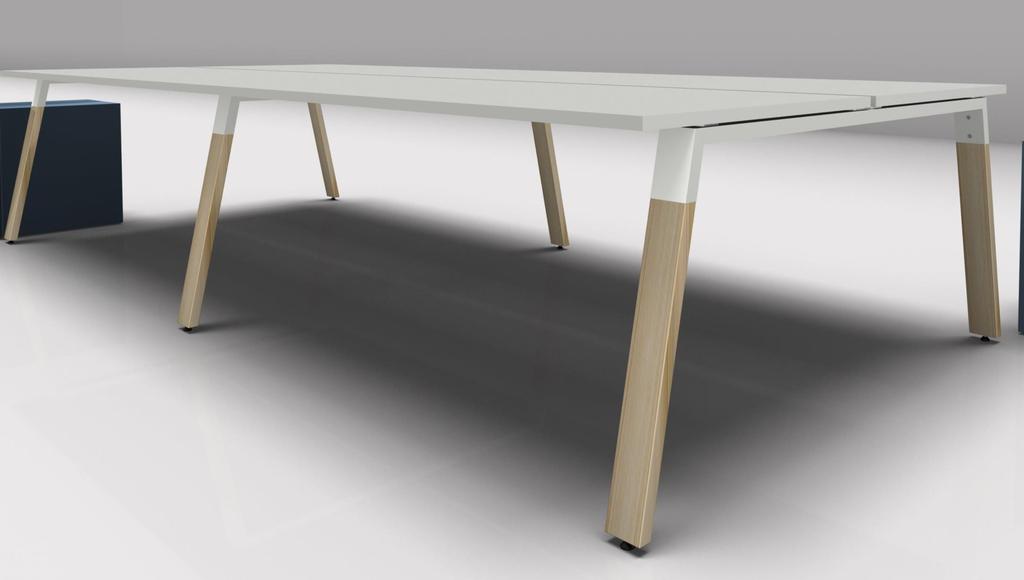 bureau bench 4 personnes en bois