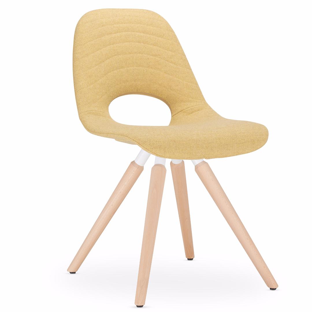 chaise_tapissée_jaune