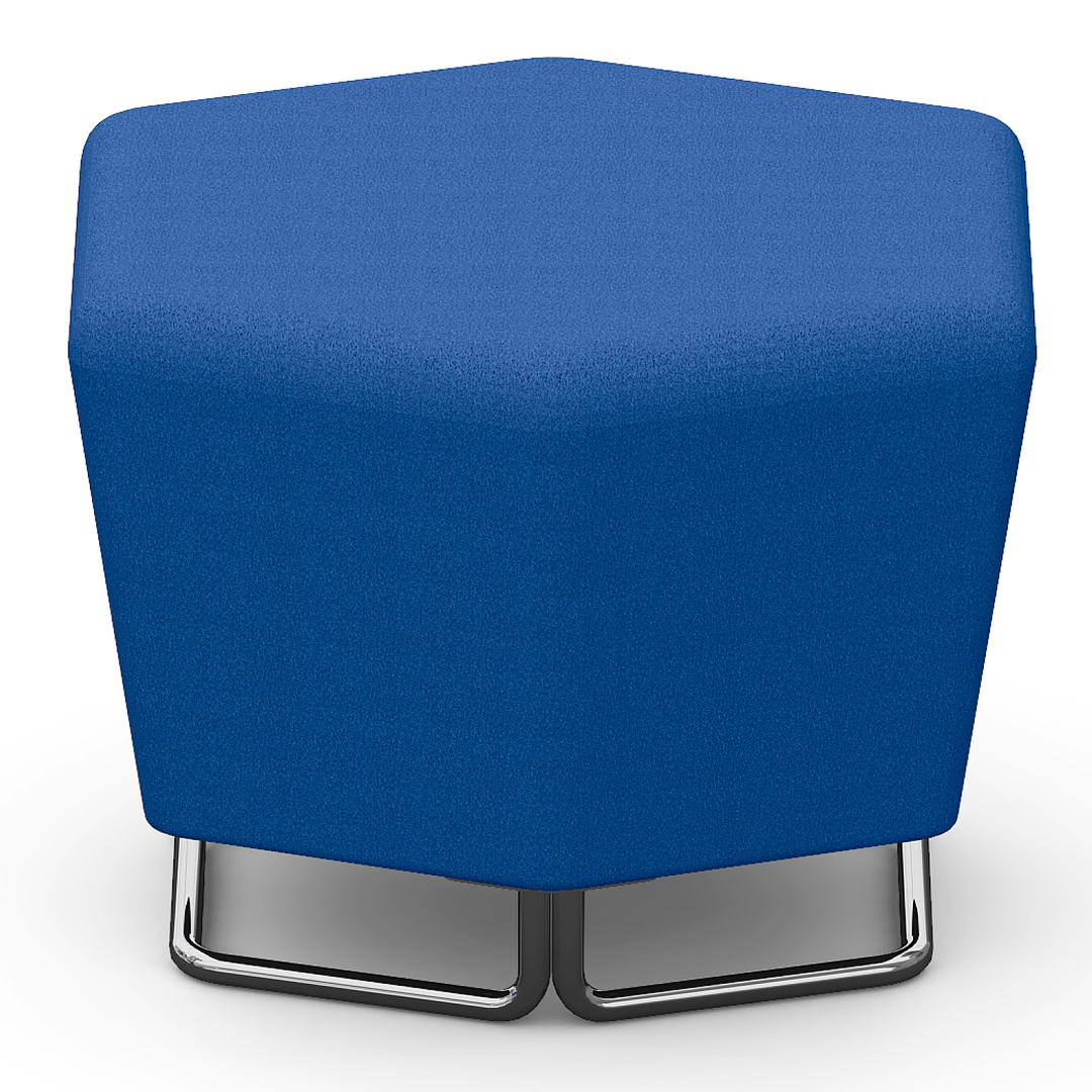 pouf-design-hexagonal-bleu