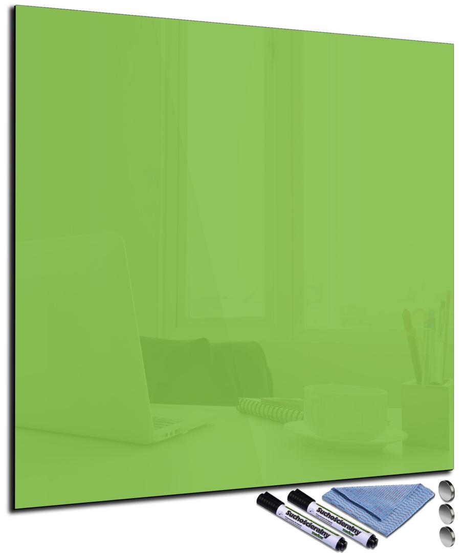 tableau magn tique vert citron en verre effa able. Black Bedroom Furniture Sets. Home Design Ideas