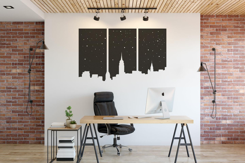 Panneau-acoustique-New-york-noir-150-cm