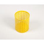 Pot à crayon jaune en métal