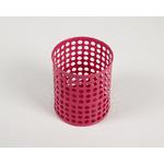 Pot à crayon rose en métal