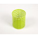 Pot à crayon vert en métal