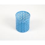 Pot à crayon bleu en métal