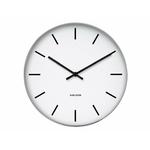 Horloge noire et blanche en métal