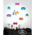 Stickers muraux Invaders (pour rendre vos bureaux rétro !)