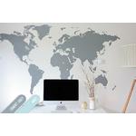 Carte du monde 18 couleurs au choix