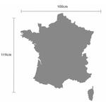 Carte de France autocollante