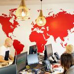 Carte du monde aux couleurs de votre entreprise