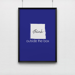 Affiche pour bureau Think outside the box