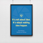 Poster It's not about idea