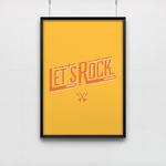 Poster Let's rock