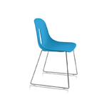 Chaise empilable bleue