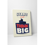 affiche_poster_start_small_think_big_toile