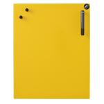 Tableau magnétique jaune en verre