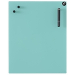 Tableau magnétique turquoise en verre