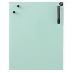 Tableau magnétique vert menthe en verre