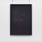Poster Let's Build Something Special Together