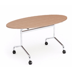 Table de réunion ovale pliable