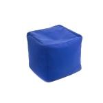Pouf bleu bien bien confortable !