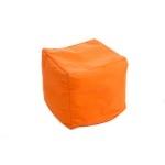 Pouf orange bien bien confortable !