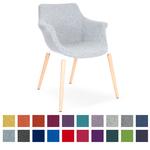 Chaise de réunion pieds bois