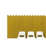 panneau_acoustique_mural_jaune_et_chaises