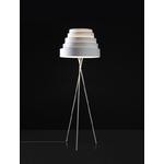 Lampadaire avec trépied en métal blanc